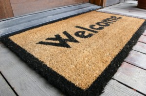 Add a Welcome Mat to your step for curb appeal - Kelly Caldwell Guelph Realtor