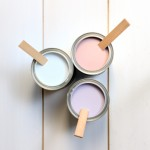 Pretty colours in paint cans